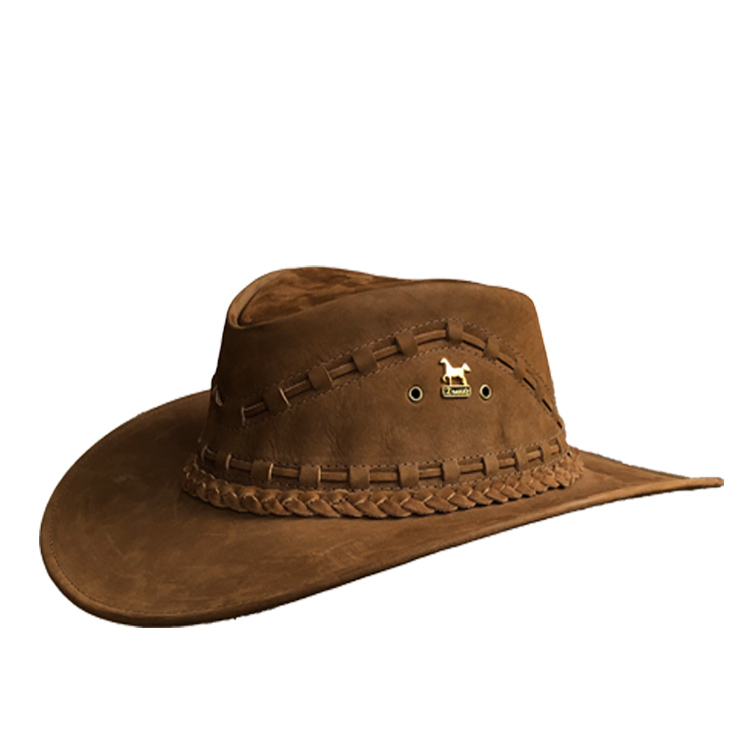 Brunello s Leather Hat in Brown – Taben Western 819a2628361