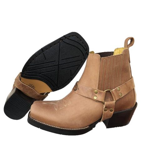 western ankle harness boot in Napa Rio
