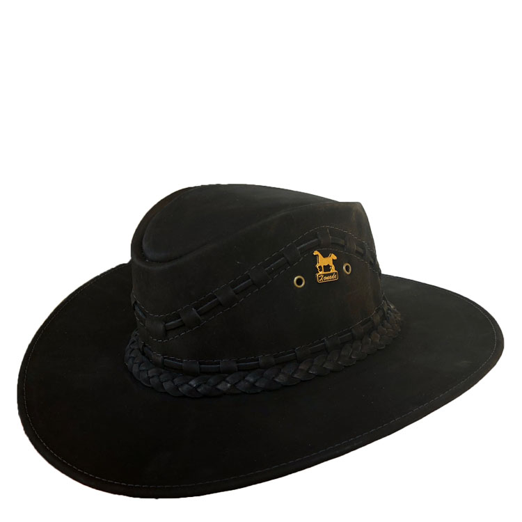 557f396b49a Brunello s Leather Hat in Black – Taben Western