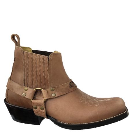 western ankle harness boot