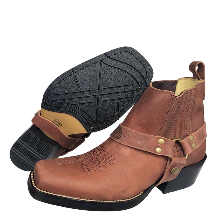 Brunello's harness ankle boot