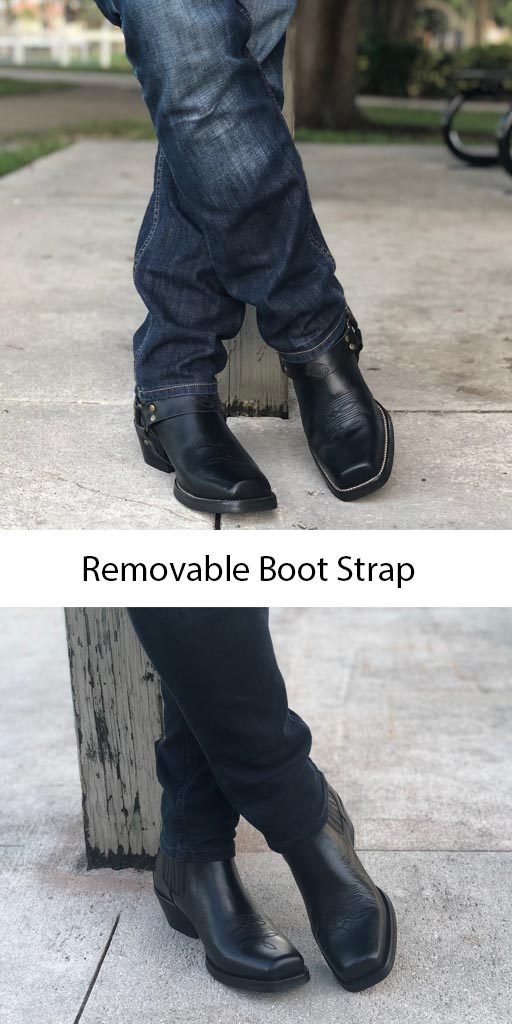 Men's Black Harness Boot