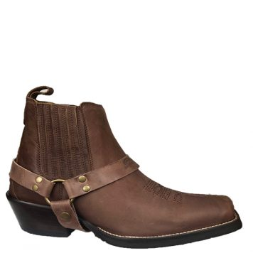 Men's Cowboy Boot in Camel Fossil