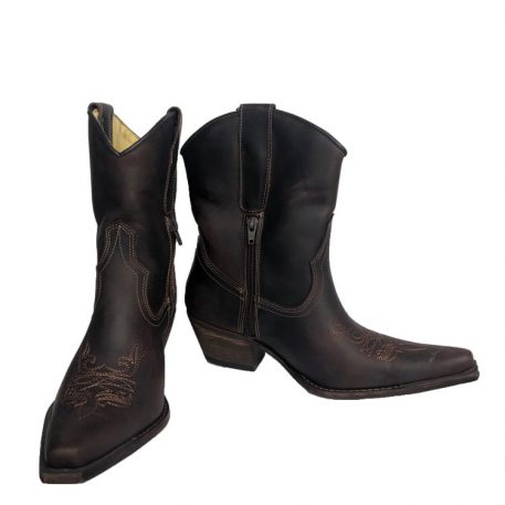 Brunello's Pointed Toe Mid Calf Cowgirl Boots