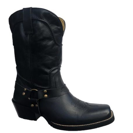 Men's Black Harness Boot BQ05-13