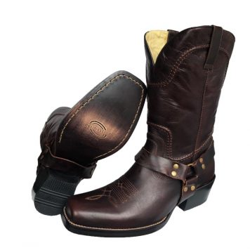 Men's Brown Harness Boot